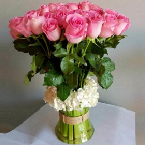 Pink Crystal By RainFlorist Bahrain Flowers Delivery