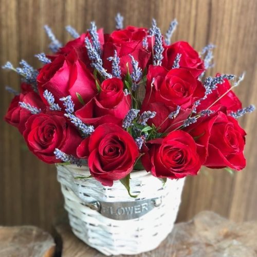 Lovely Red by Heaven Garden Flowers Bahrain Delivery