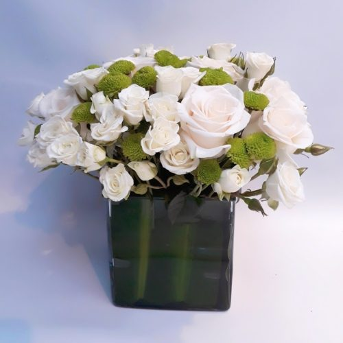 White Rose Delight by Rainflorist Flowers Bahrain