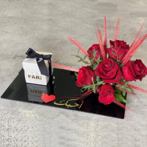 Classic Tray by Pari Bahrain Flowers and Chocolates Delivery