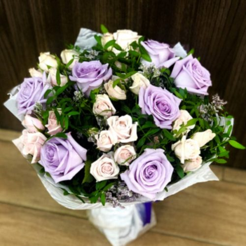 Hello Purple by Heaven Garden Flowers Bahrain Delivery