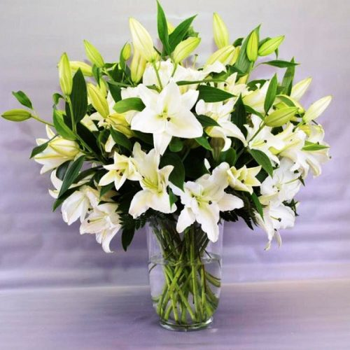 Lily Blooms by Petals Bahrain Flowers Delivery