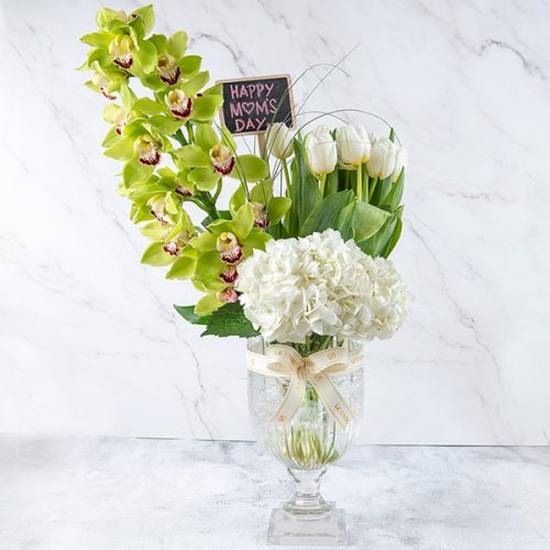 Green blossom By Le Cadeau Flowers Delivery Bahrain